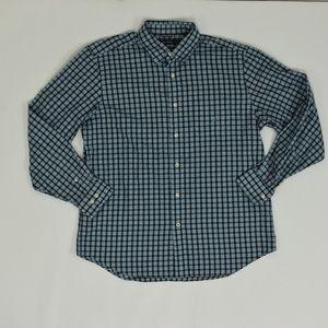 Nautica Regular L Blue   Button Down Cotton Plaid